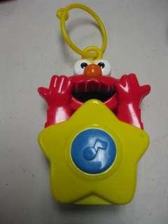 Sesame Street Elmo Talking/Singing Crib Side Toy Clips On Crib
