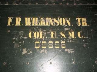 Vintage USMC US Marine Corp Metal Military Trunk   Vietnam War