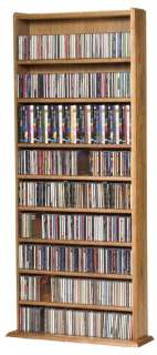 Solid wood CD DVD Storage Rack 600 CD 300 DVD   Cherry