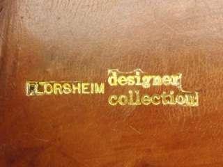 shoes dark blue vintage Florsheim 10.5 B loafers dress leather