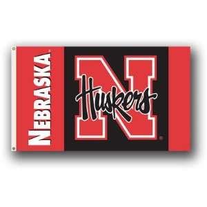 NCAA Nebraska Huskers 3 by 5 Foot Flag w/Grommets