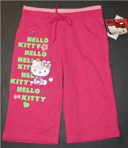 NEW GIRLS 5 HELLO KITTY PINK SHORTS JACKET OUTFIT SET