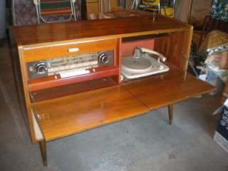 50s GRUNDIG MAJESTIC Stereo Console RADIO Turntable SO 120 ua