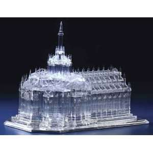LED Light Up Battery Operated Acrylic Milan Cathedral Sculpture Home