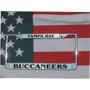 Tampa Bay Bucs Chrome Laser Engraved License Plate Frame
