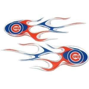 Chicago Cubs Micro Flame Decals: Sports & Outdoors