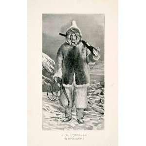 1898 Halftone Print JW Tyrell Author Eskimo Costume Canada