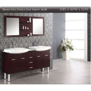 Bathroom Vanity on 60 Modern Double Sink Bathroom Mirror Vanity Cabinet Free