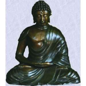 Bronze Buddha statue home yard asian god sculpture New
