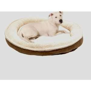 Sherpa/Suede Comfy Cup Dog Bed Large Chocolate