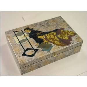 Japanese Woman Art Treasure Box 1004 t: Home & Kitchen