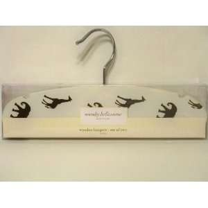 Wendy Bellissimo Safari Wooden Hangers Set of Two: Baby