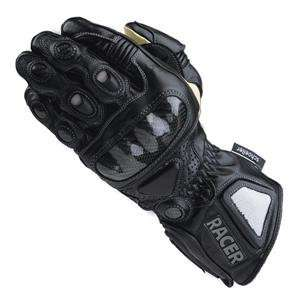 Racer Womens High End Leather Gloves   Large/Black