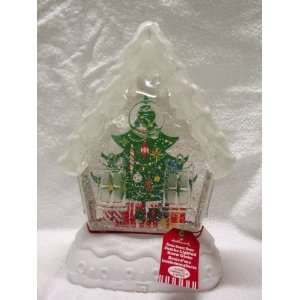com Hallmark Jumbo Lighted Home Sweet Home Christmas Tree Snow Globe