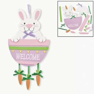 Bunny And Carrot Door Hanger Craft Kit   Craft Kits