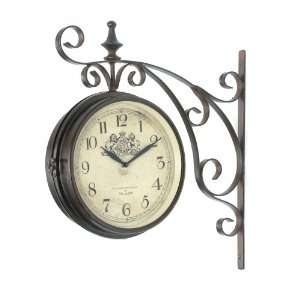 Victoria Station Double Sided Wall Clock London Home