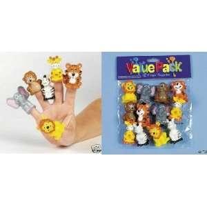 Set of 12 Jungle Safari Animal Finger Puppets Toys & Games