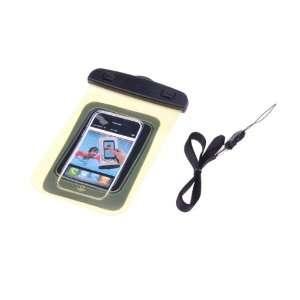 BestDealUSA Yellow Transparent Waterproof Case Bag Armband for iPod