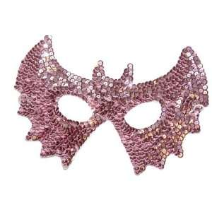 Halloween Mask Sequin Pink Masquerade Ball Bat Mask by H M