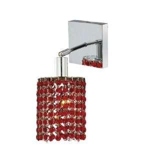 Elegant Lighting 1281W S E BO/RC Mini 8 Inch High 1 Light Wall Sconce