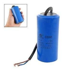 : CD60 AC 250V 400uF Wired Motor Starting Capacitor: Car Electronics