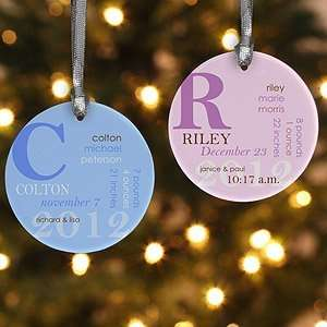 Personalized Baby Christmas Ornaments   Baby Birth