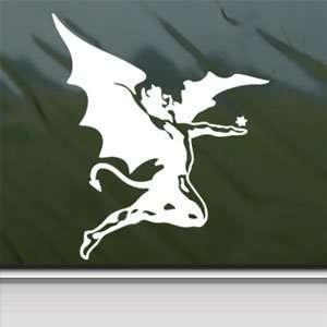 Black Sabbath White Sticker Devil Ozzy Laptop Vinyl Window