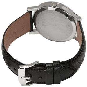 Movado 2100002 Mens Watch Black Dial Museum Quartz Leather Strap