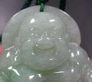 Green 100% Natural A Jade jadeite pendant Buddha God 339400