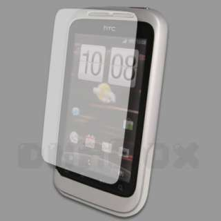 Leather Case Pouch Cover Skin + Film For HTC Wildfire S A510e p_Black
