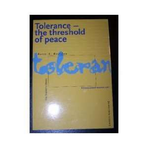 Tolerance, the Threshold of Peace Primary School Resource
