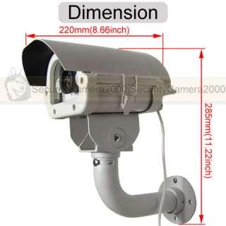 License Plate Captured Sony CCD 650TVL HD Camera w/ White Led