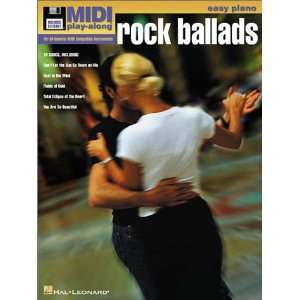 Vol. 3 Rock Ballads Easy Piano MIDI Play Along Book/Disk