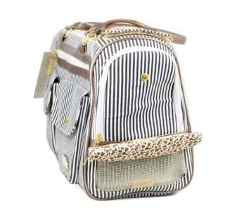 Petcare Pet Dog Cat Tote Bag Carrier Stripe Black M