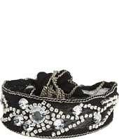 Chan Luu   Rhinestone Clear Crystal Single Bracelet On Chiffon