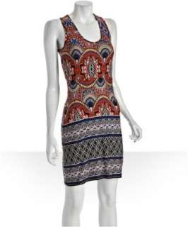 Envi blue printed jersey sleeveless tank dress