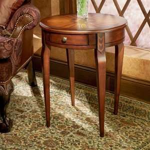 Specialty Plantation Cherry Round Wood End Table Furniture & Decor