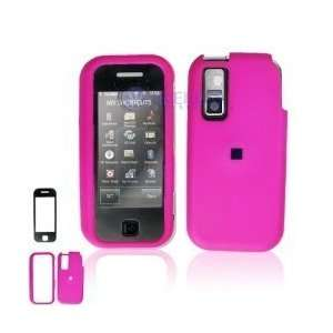 Rubber Hot Pink Case Cover Touchable Lens Screen