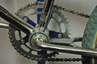 Old School Mongoose Expert BMX 20 wheeled Chrome & blue Pro Class