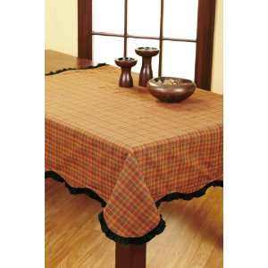 Harvest Time 60x60 Scalloped Table Cloth