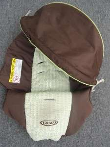Graco SnugRide Infant Car Seat Cover & Canopy Set * Green/Brown