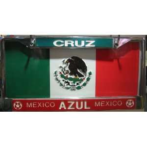 Mexican License Plate Frame/Cruz Azul: Automotive