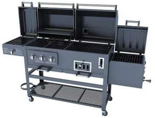 in 1 Combo Gas Charcaol Grill 3 Burner with BBQ Smoker Box Sear