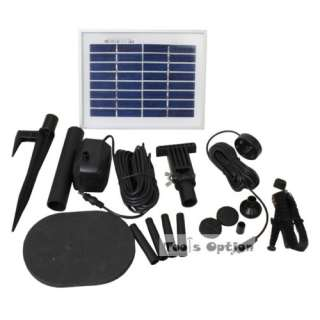 Watt Solar Powered Pool Water Pump Kit with LED Light