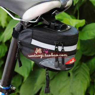 Bicycle Bike Saddle Outdoor Pouch Seat Tail Bag waterproof Black