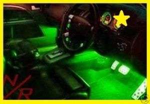 GREEN LED LIGHTS   INTERIOR KIT FOR CAR & TRUCK. NEW
