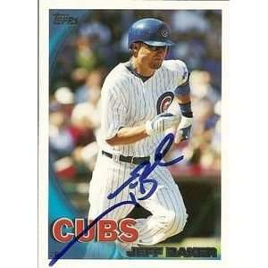 Jeff Baker Signed Chicago Cubs 2010 Topps Card  Sports