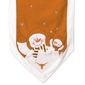 Texas Longhorns Snowman Table Runner