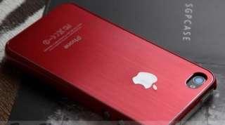 iPhone 4S 4 4G Premium Case Brushed Metal Protector APPLE Logo