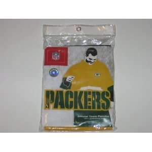 GREEN BAY PACKERS Logo Unisex Waterproof Vinyl RAIN PONCHO ( 52 wide